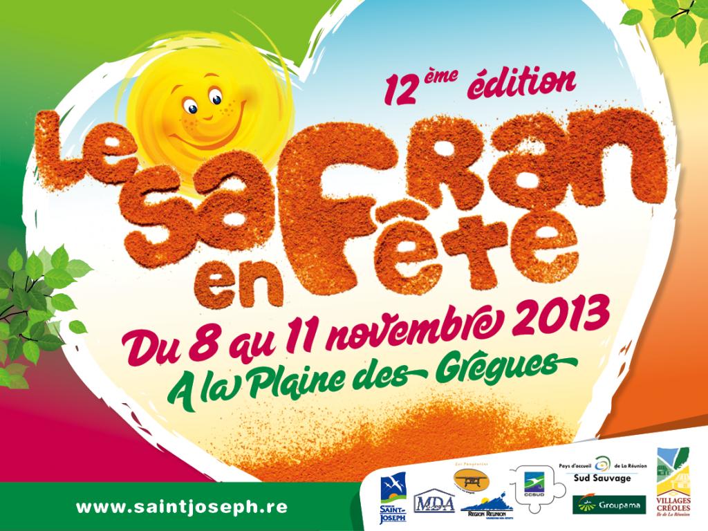 Affiche La Fête du Safran 2013 - imazcom