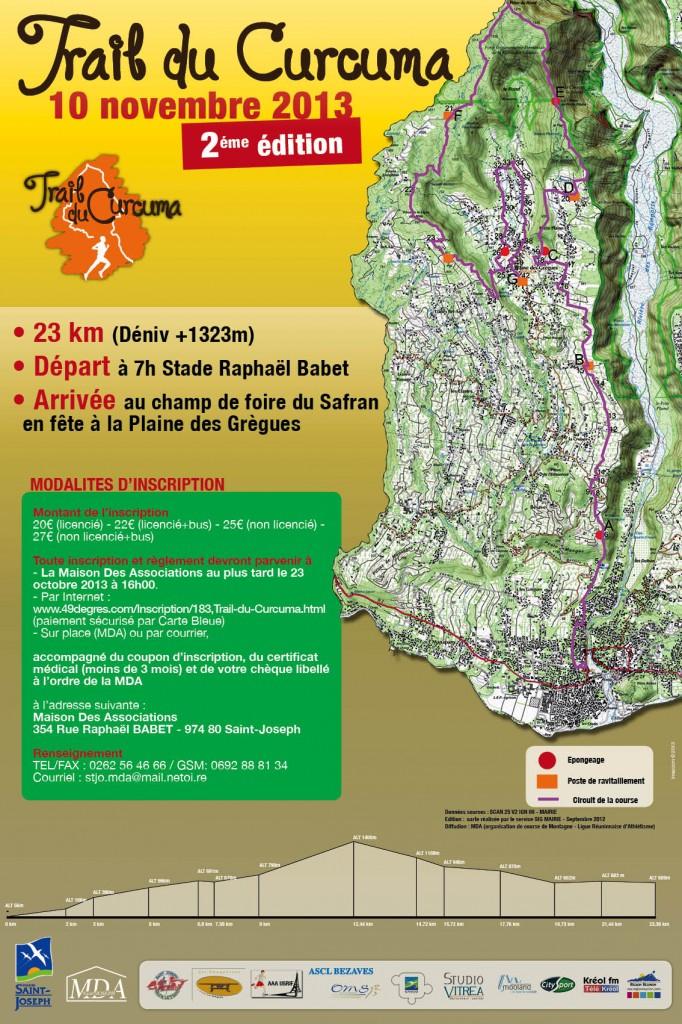 Affiche Trail du Curcuma - imazcom